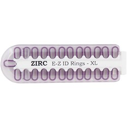 E Z ID Rings for Instruments XLarge Plum Pack of 25