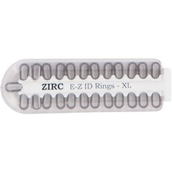 E Z ID Rings for Instruments XLarge Grey Pack of 25