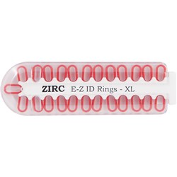 E Z ID Rings for Instruments XLarge Red Pack of 25