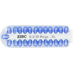 E Z ID Rings for Instruments XLarge Neon Blue Pack of 25