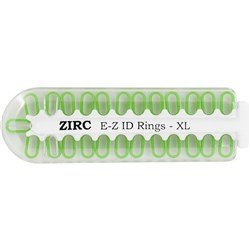 E Z ID Rings for Instruments XLarge Neon Green Pack of 25