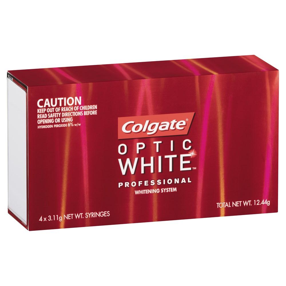 Colgate Optic White Review >> CG-1225486 - Optic White Professional Full Kit 6% x 4 Syringes - Henry Schein Australian dental ...