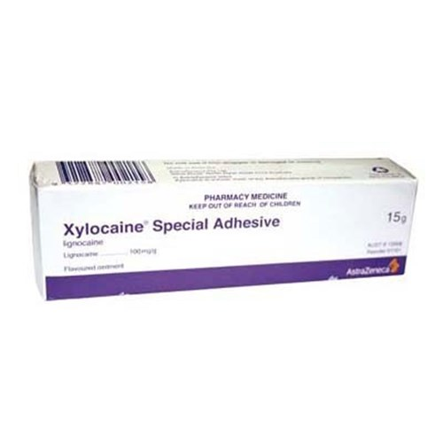 Aa 1101 Xylocaine 10 Adhesive Ointment 15g Tube Topical