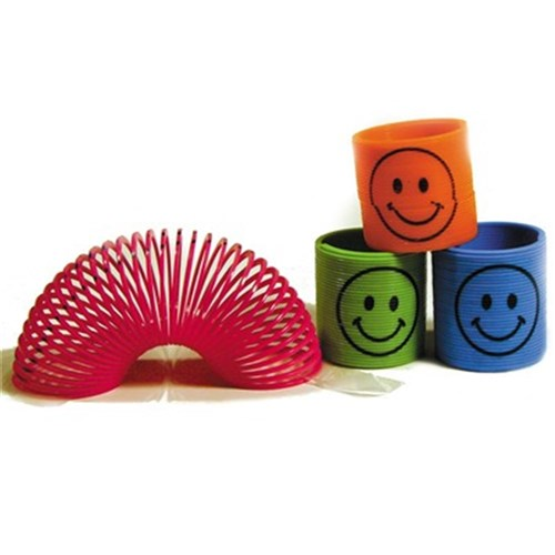 Mini Slinky with Faces Assorted Colours 48 Pack