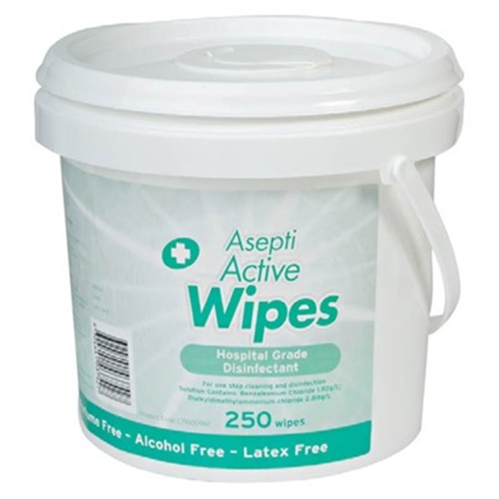 Ecolab Brand Henry Schein Halas Australian Dental Products Aseptic Gel Alkohol Antiseptik Asepti Active Wipes Pail 325 X